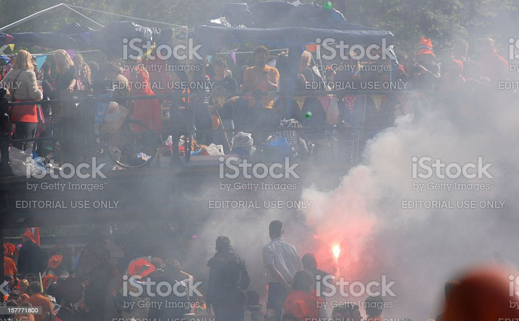 Dutch National Holiday: Koninginnedag (Queensday) stock photo