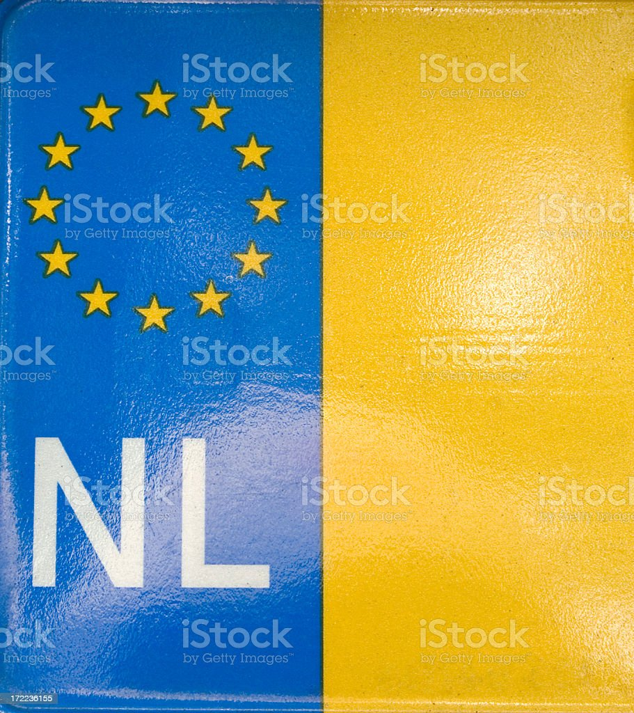 Dutch Number Plate (detail) royalty-free stock photo