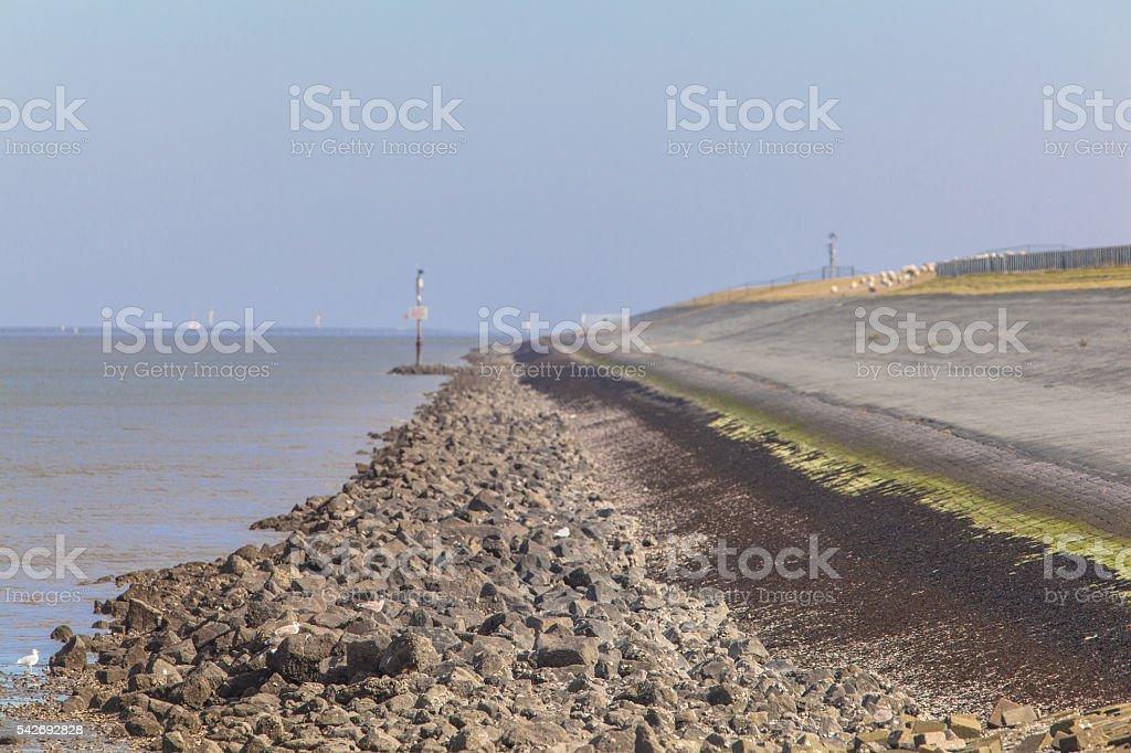 Dutch Ocean Dam stock photo