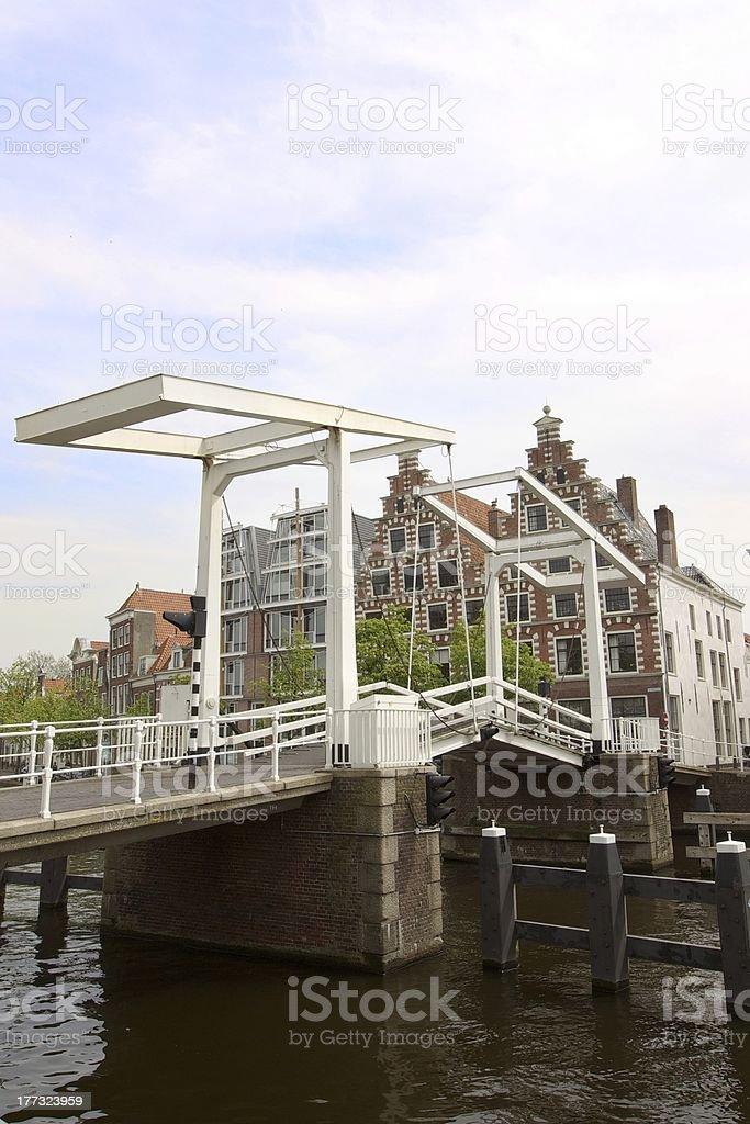 Dutch old bridge stock photo