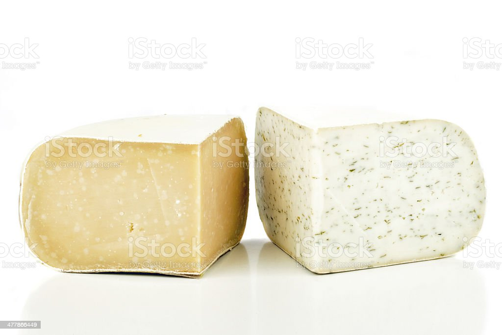Dutch old goat cheese royalty-free stock photo