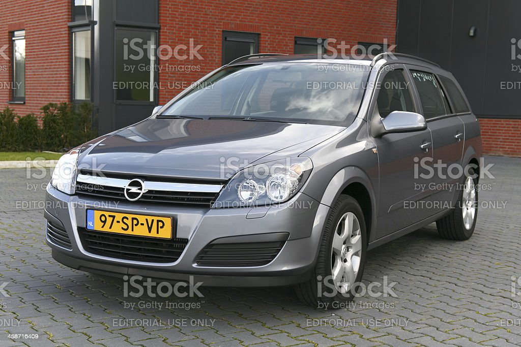 Dutch Opel Astra station wagon from 2006 stock photo