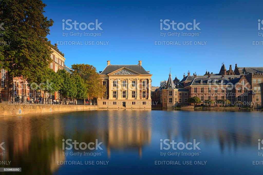 Dutch parliament buildings in The Hague stock photo