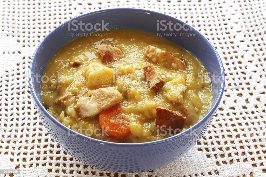 Dutch pea soup royalty-free stock photo