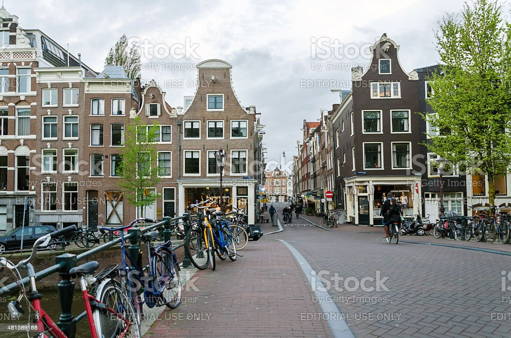 Dutch People in the city of Amsterdam stock photo