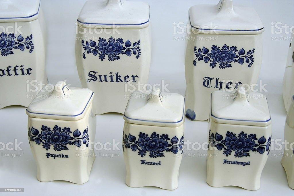 Dutch porcelain 3 stock photo