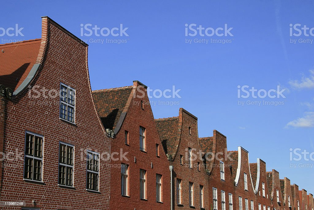 Dutch quarter royalty-free stock photo