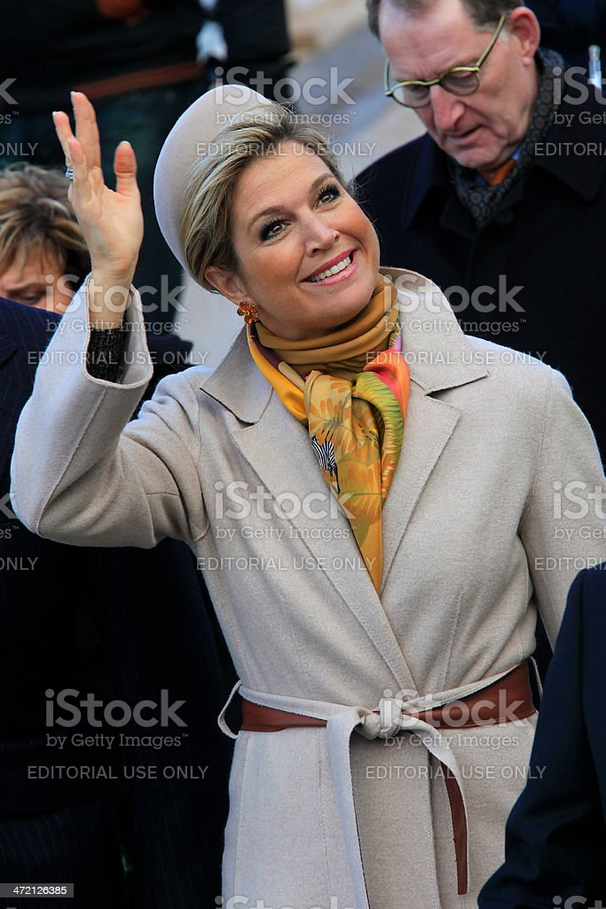 Dutch Queen Maxima greets the general public royalty-free stock photo