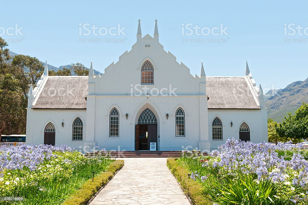 Dutch Reformed Church, Franschoek stock photo
