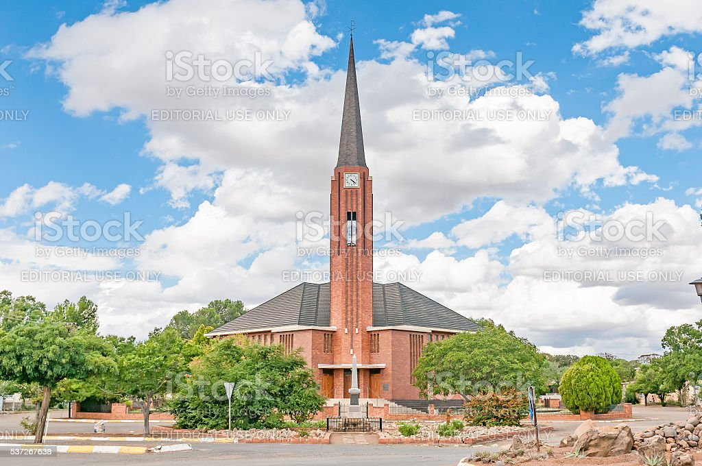 Dutch Reformed Churchl in Edenburg stock photo