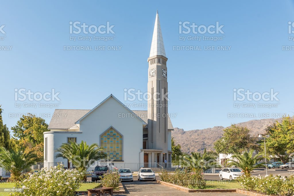 Dutch Reformed Mother Church in Ceres stock photo