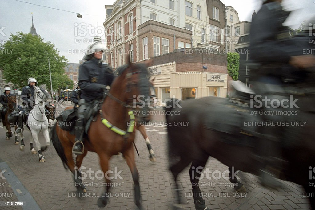 Dutch Riot Police stock photo