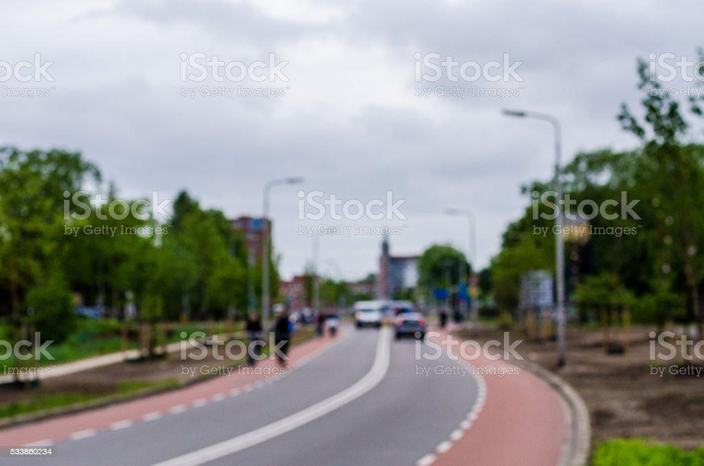 Dutch road background stock photo
