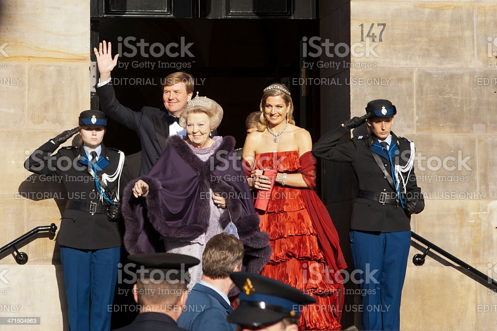 Dutch Royal Family stock photo
