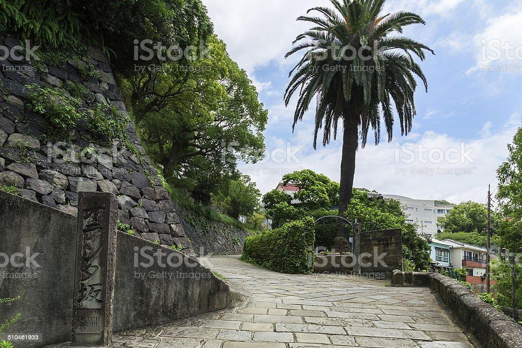 Dutch Slope (Oranda-zaka) in Nagasaki, Japan stock photo