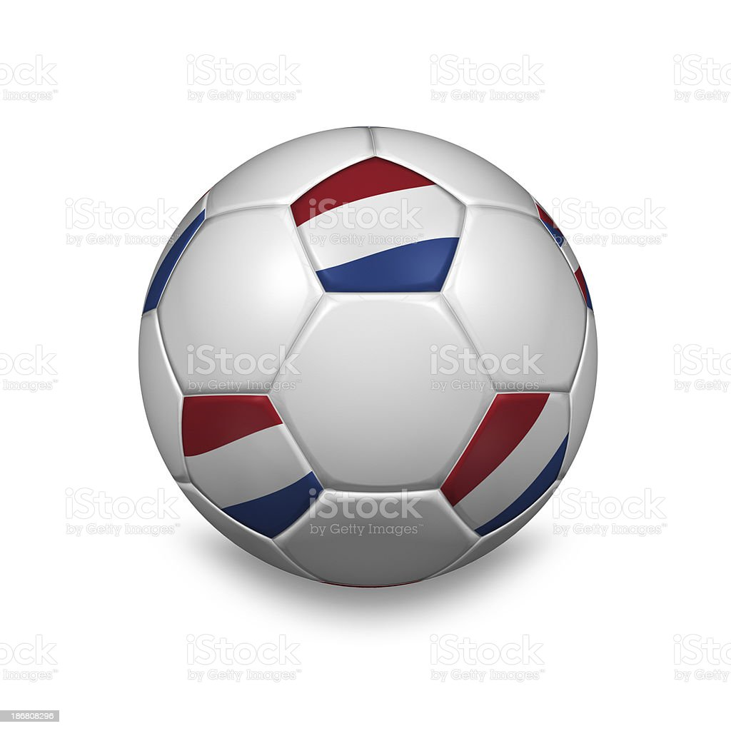 dutch soccer ball royalty-free stock photo