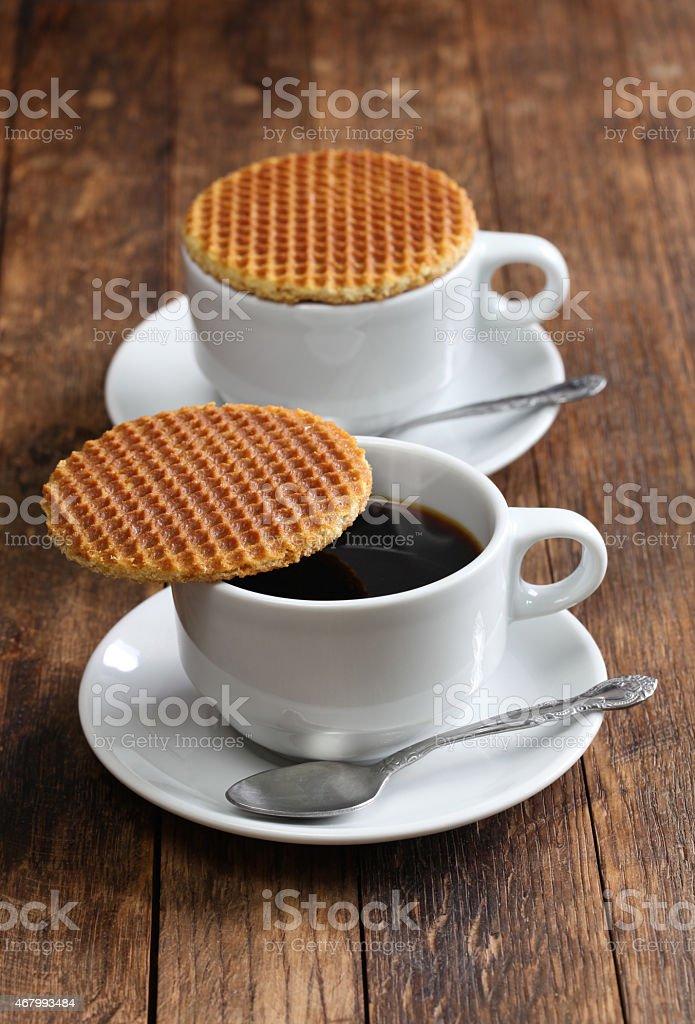 dutch stroopwafel stock photo