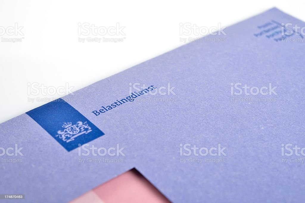 Dutch tax envelope royalty-free stock photo
