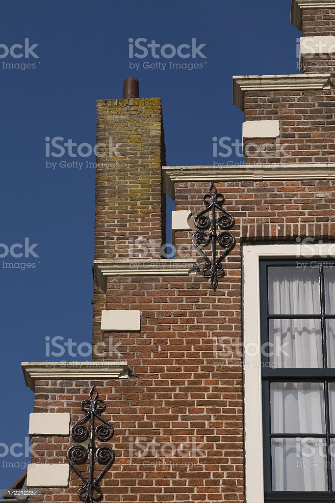 Dutch traditional Facade royalty-free stock photo