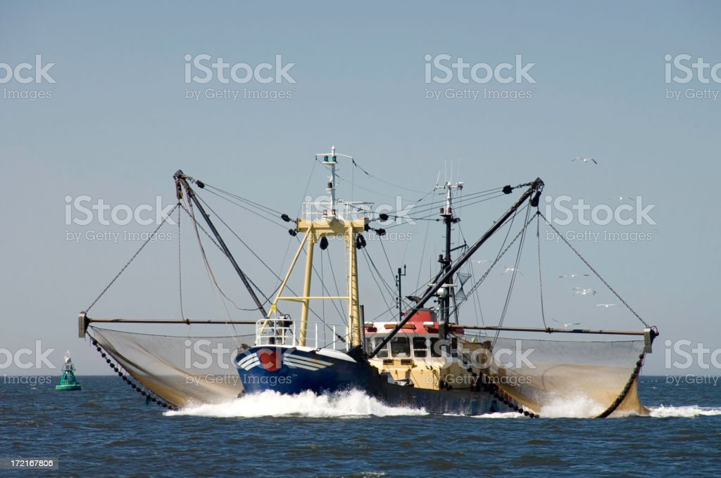 Dutch Trawler stock photo