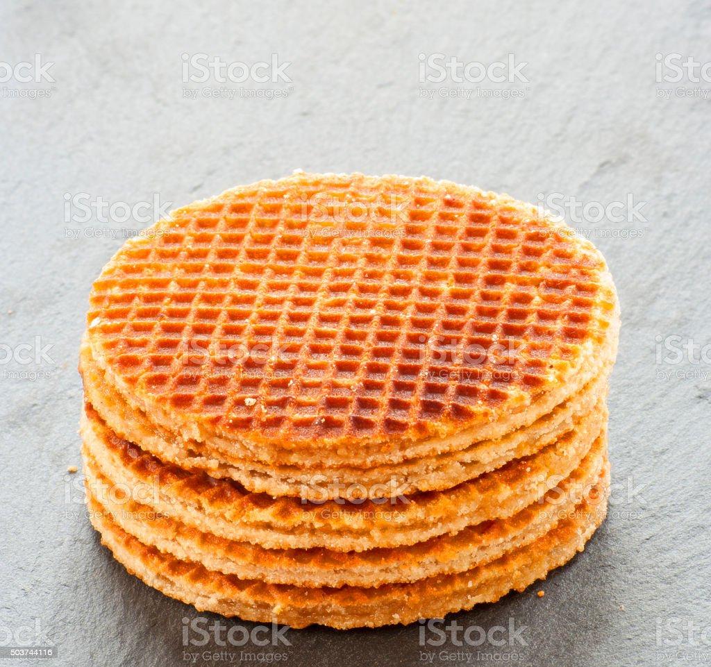 Dutch Waffles close up stock photo