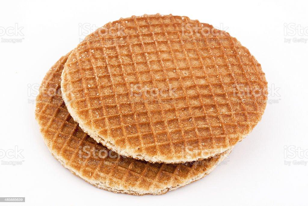 dutch waffles royalty-free stock photo