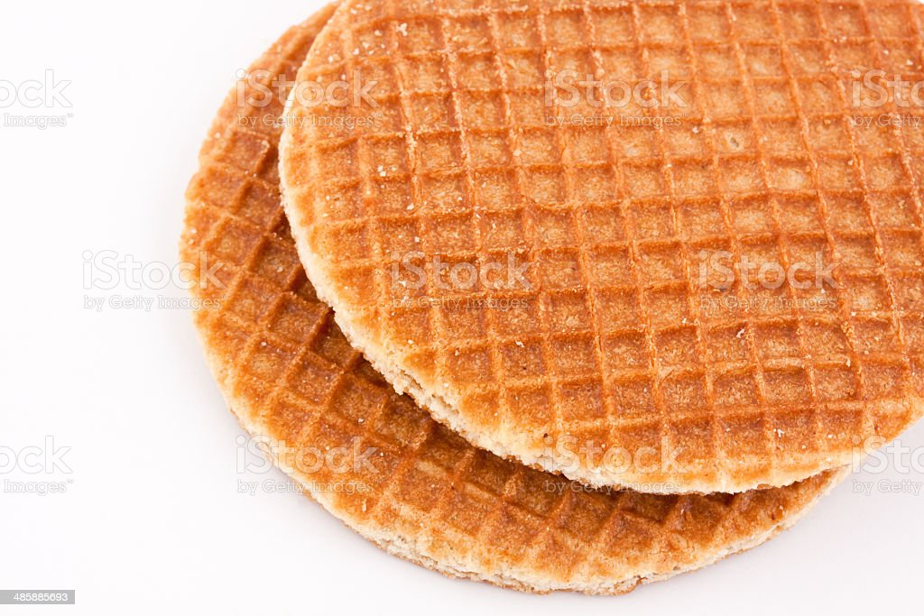 dutch waffles stock photo