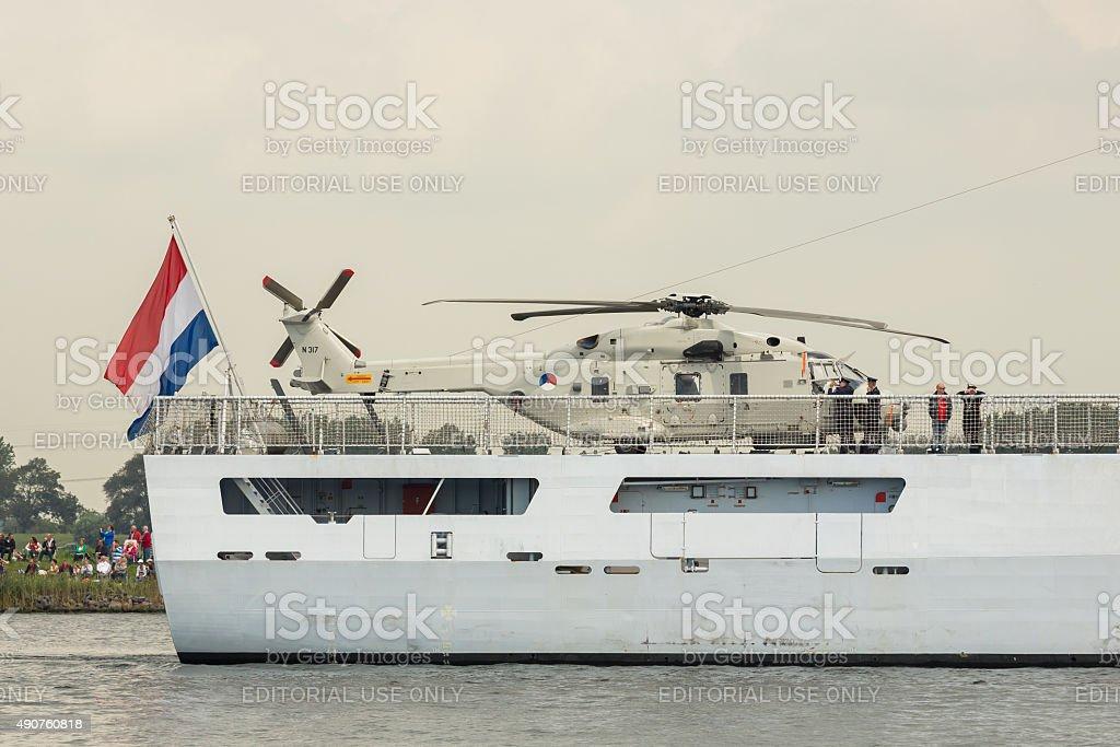 Dutch War ship Zeeland stock photo