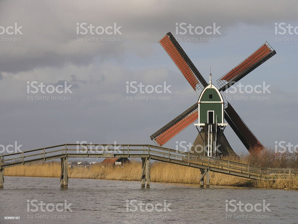 Dutch windmill 2 royalty-free stock photo
