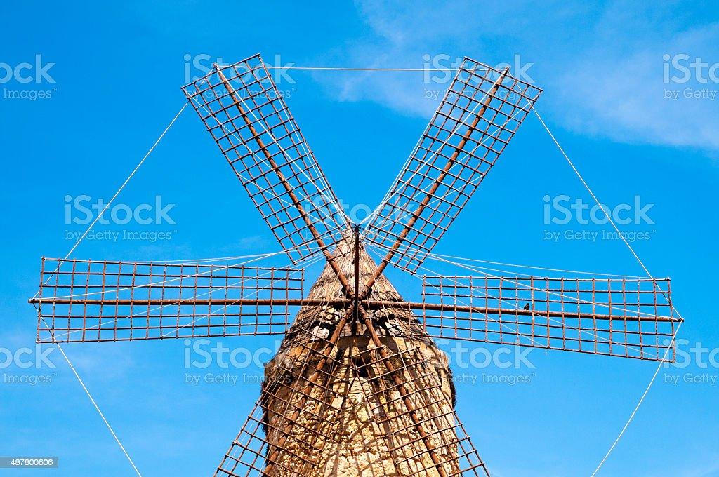 Dutch windmill, Old Hook Mill stock photo
