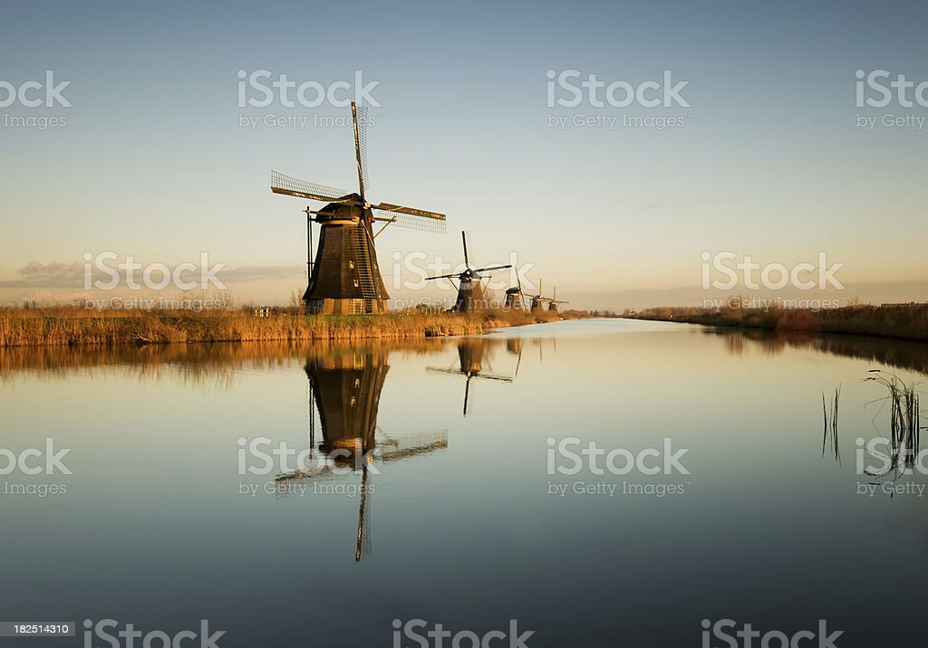 Dutch windmill stock photo