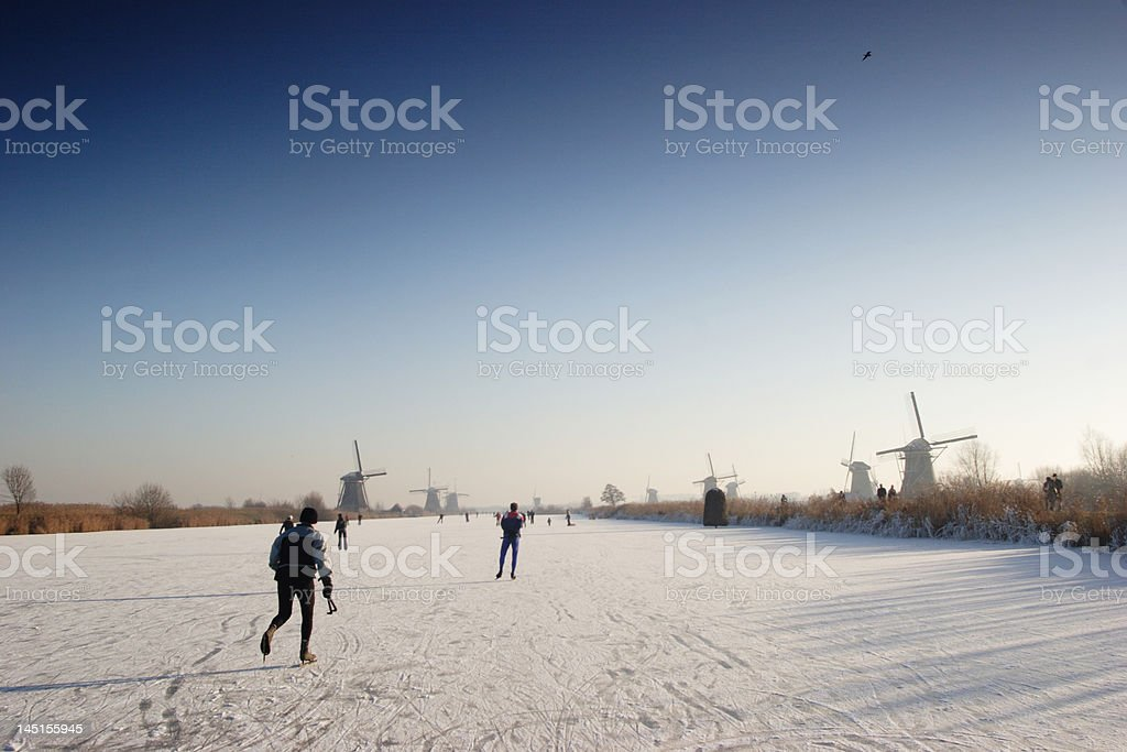 Dutch Winter Landscape royalty-free stock photo
