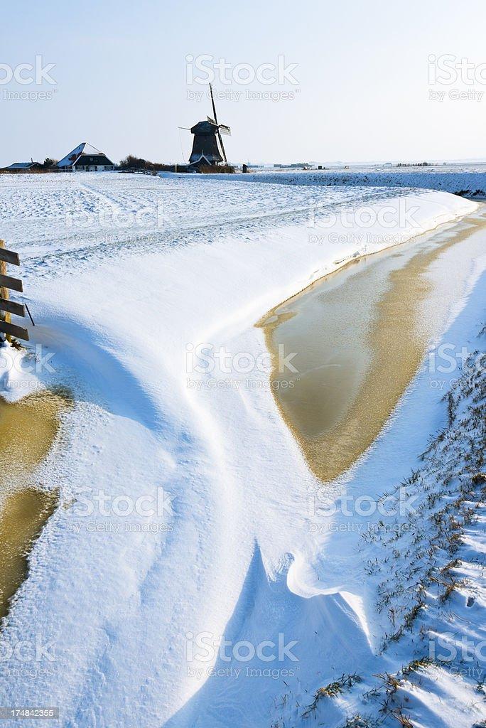 Dutch Winter Landscape royalty-free stock photo