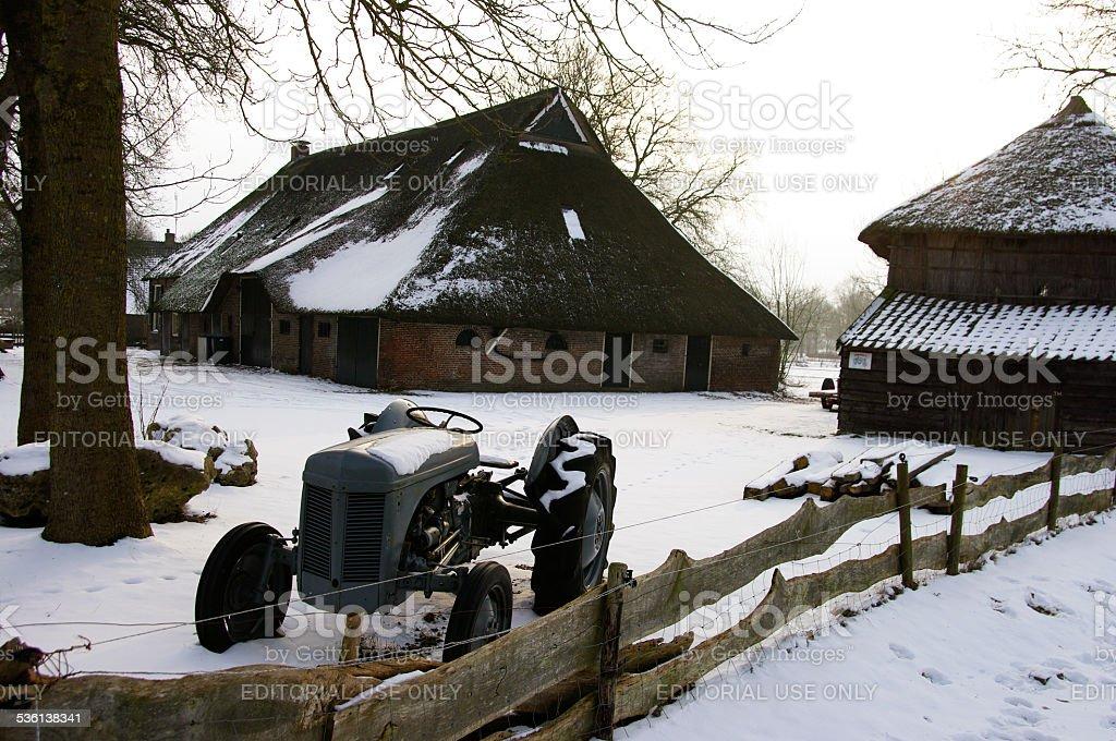 Dutch winter landscape stock photo