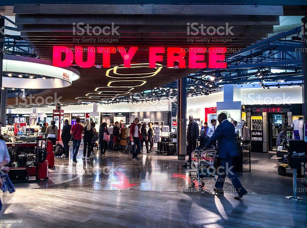 Duty Free at Ataturk Airport, Istanbul stock photo