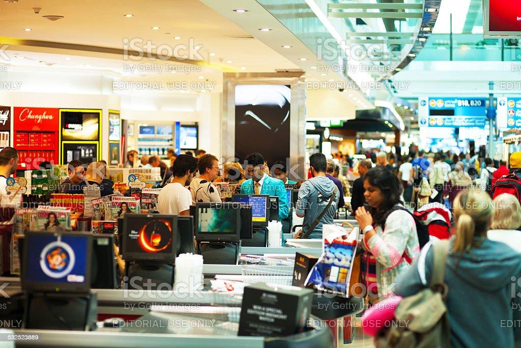 Duty free caisses stock photo
