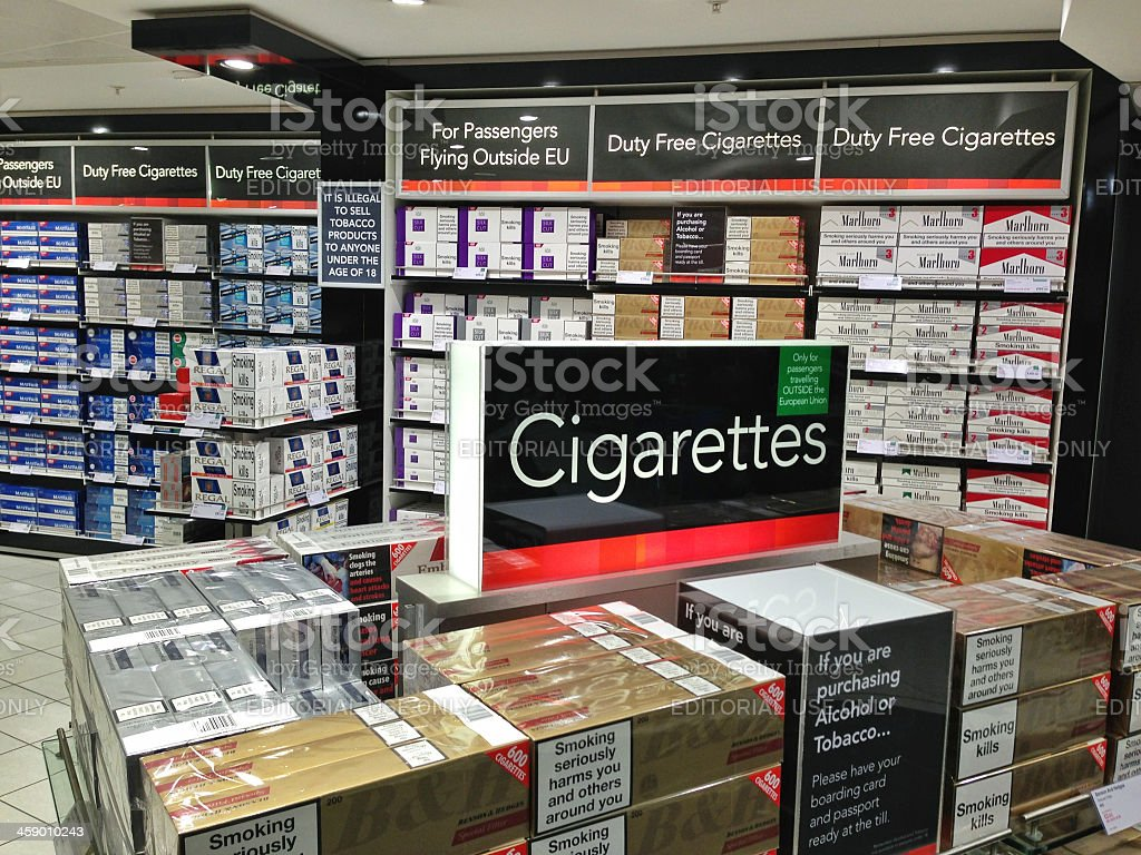 Duty Free Cigarettes stock photo