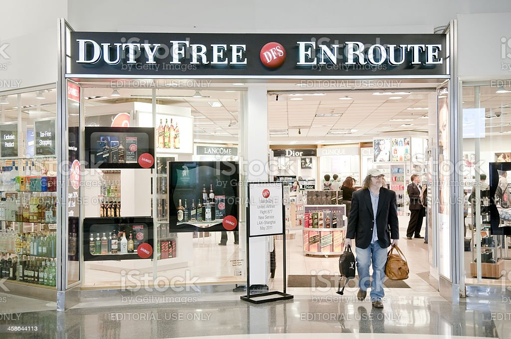 Duty free in LAX royalty-free stock photo
