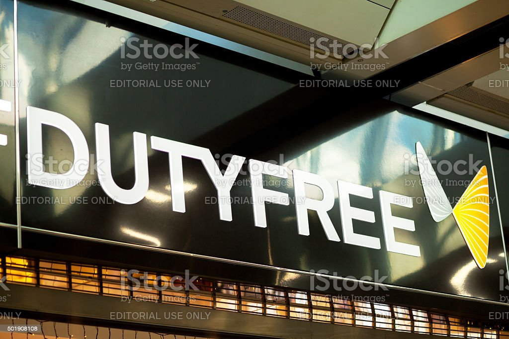Duty free letters stock photo
