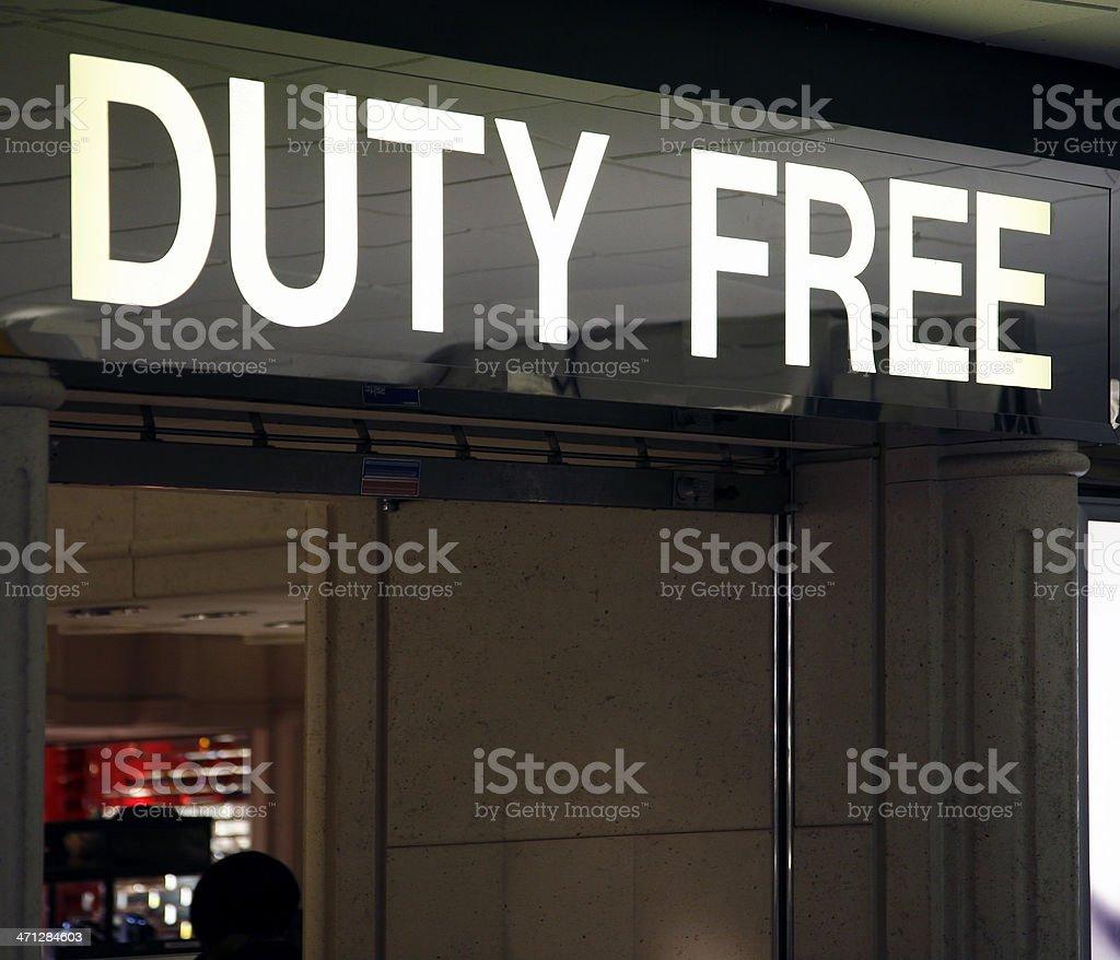 Duty Free royalty-free stock photo