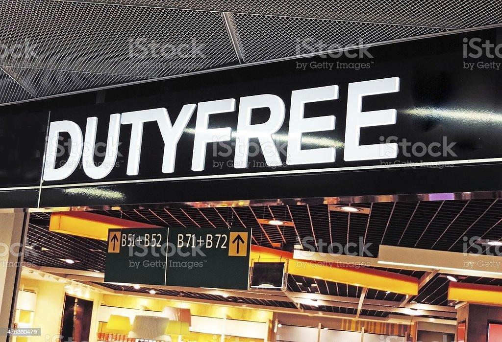 Duty Free stock photo