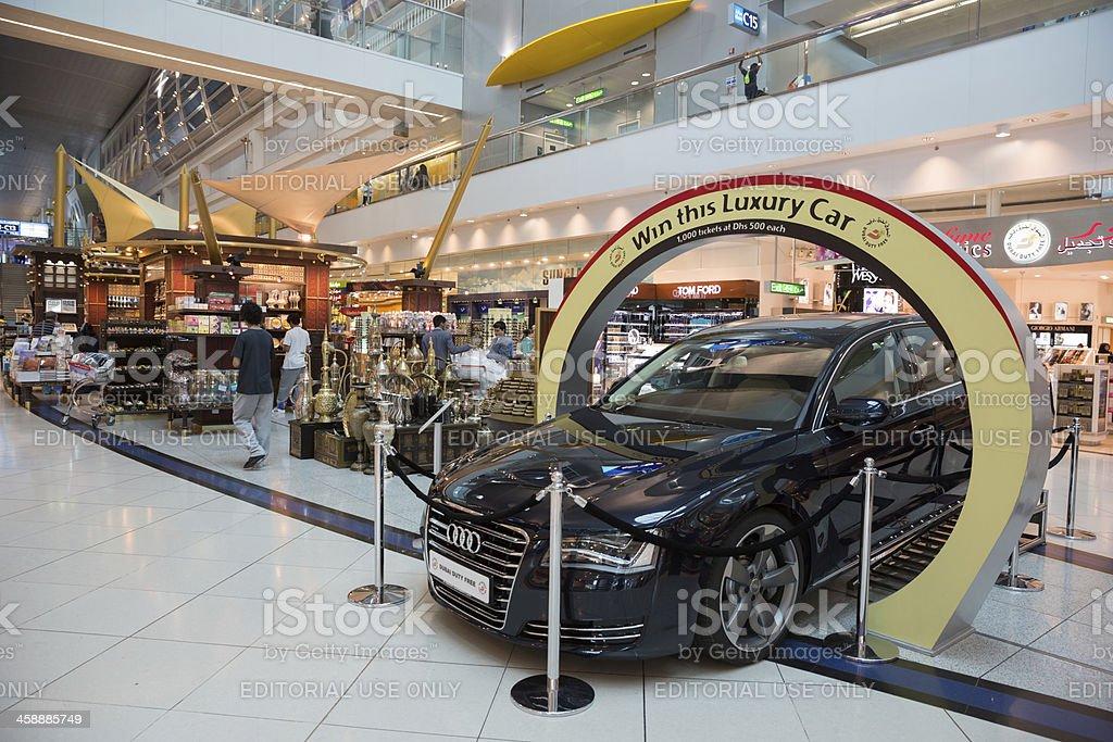 Duty Free Shop in Dubai International Airport stock photo