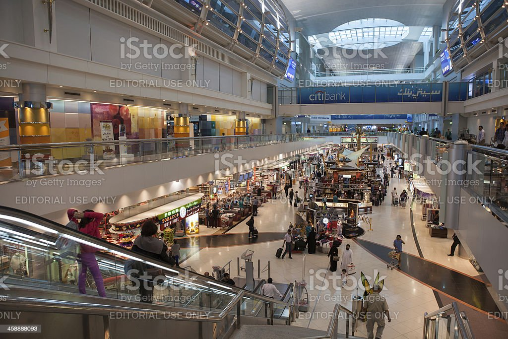 Duty Free Shop in Dubai International Airport royalty-free stock photo