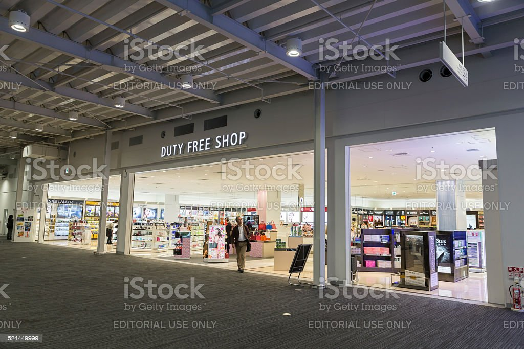 Duty Free Shop in Kansai International Airport, Japan stock photo
