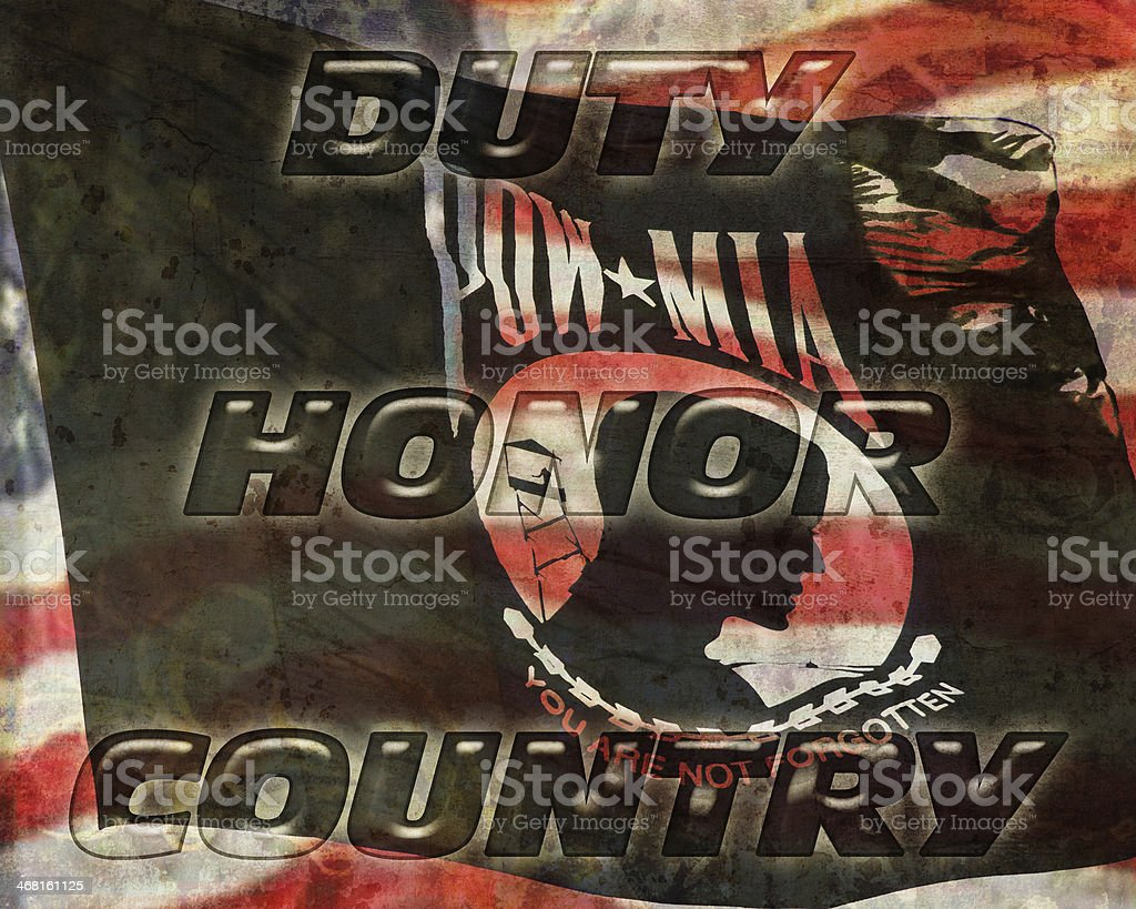 Duty Honor Country stock photo