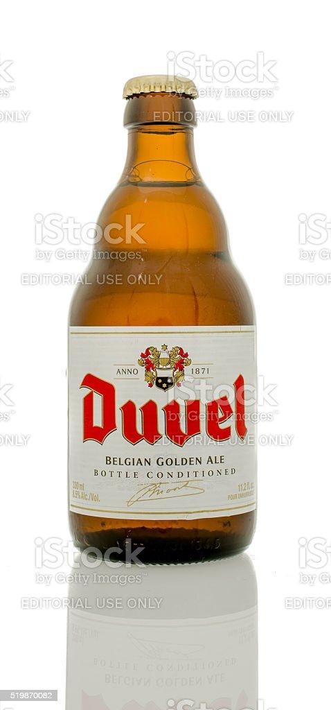 Duuel Belgian Golden Ale stock photo