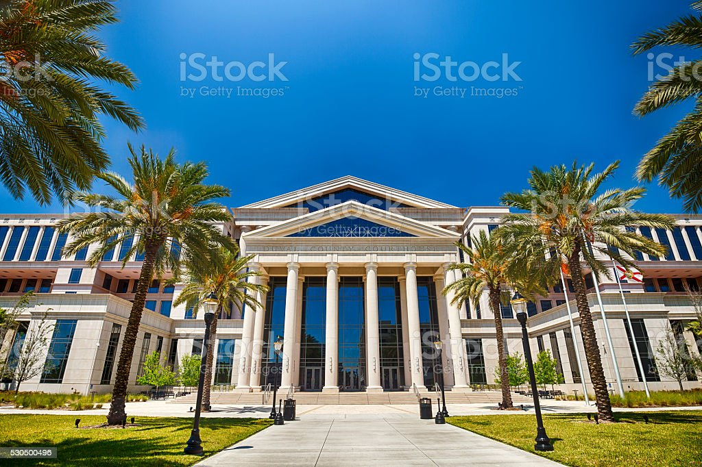 Duval County Courthouse In Jacksonville, Florida stock photo