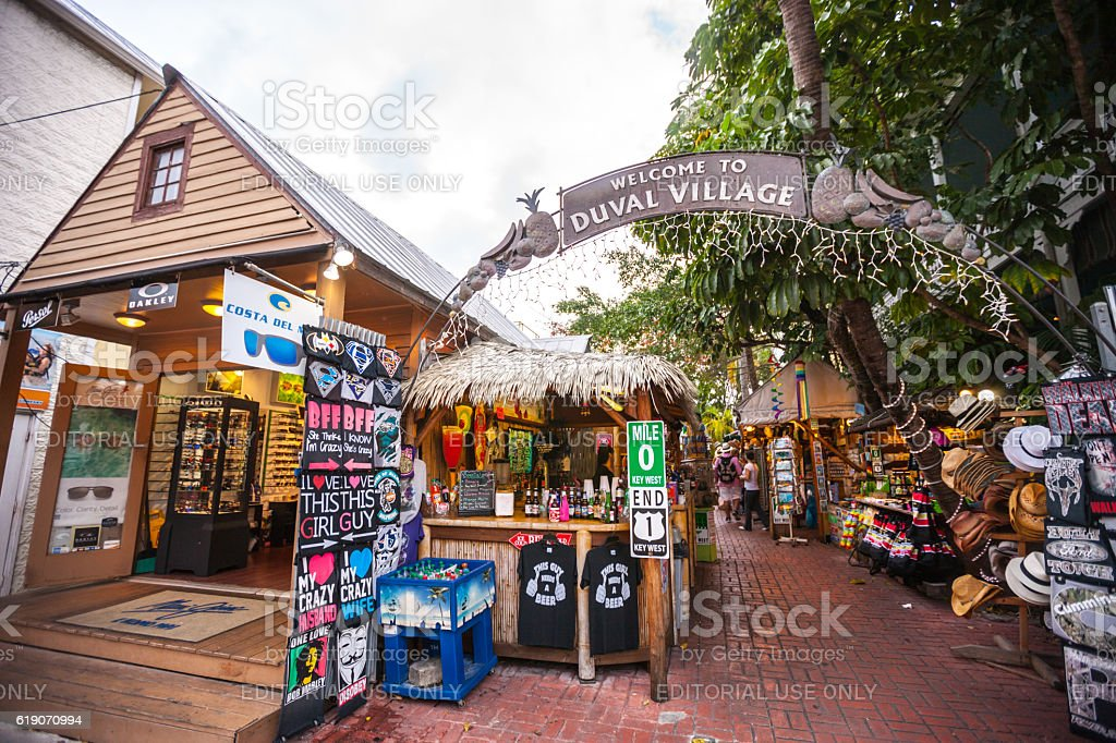 Duval village entrance, Key West, Florida, USA stock photo
