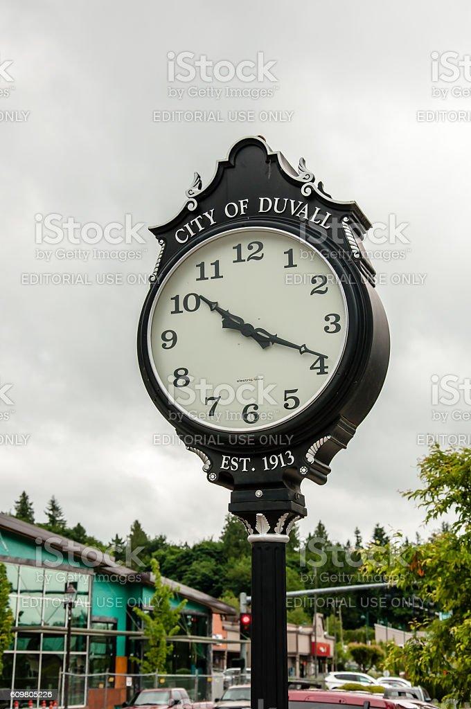 Duvall Washington  Town Clock stock photo