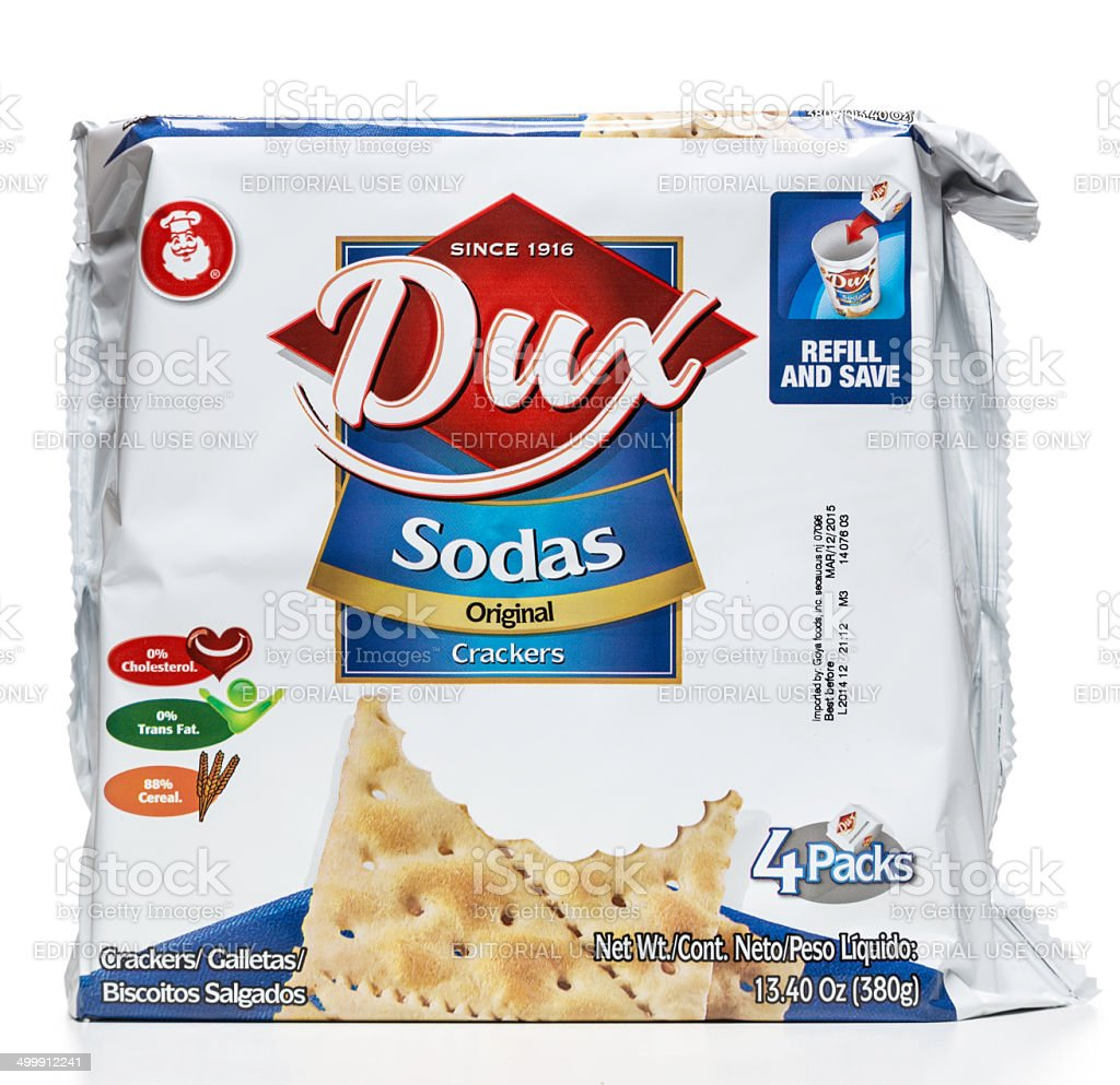 Dux soda crackers package stock photo